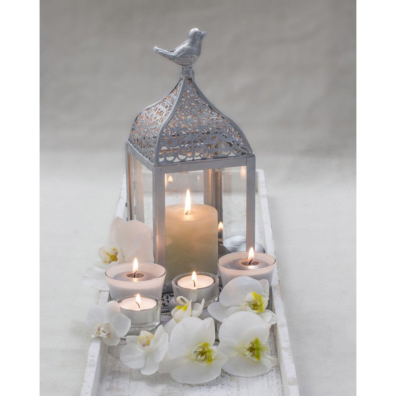 toile led lampion avec oiseau x cm leroy merlin. Black Bedroom Furniture Sets. Home Design Ideas
