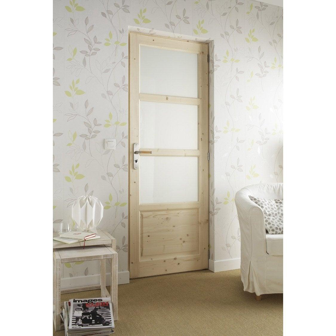bloc porte sapin bucarest x cm poussant droit leroy merlin. Black Bedroom Furniture Sets. Home Design Ideas