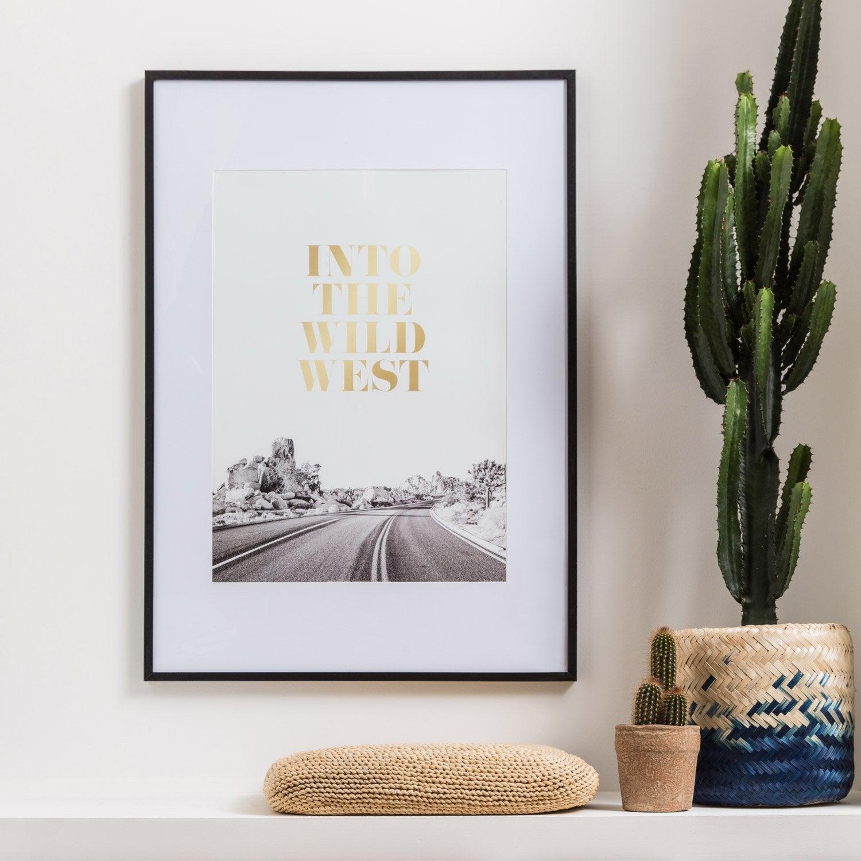 cadre milo 30 x 40 cm noir leroy merlin. Black Bedroom Furniture Sets. Home Design Ideas