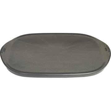 Plancha en c ramique grand mod le weber 48 x 34 5 cm leroy merlin for Plaque plancha weber