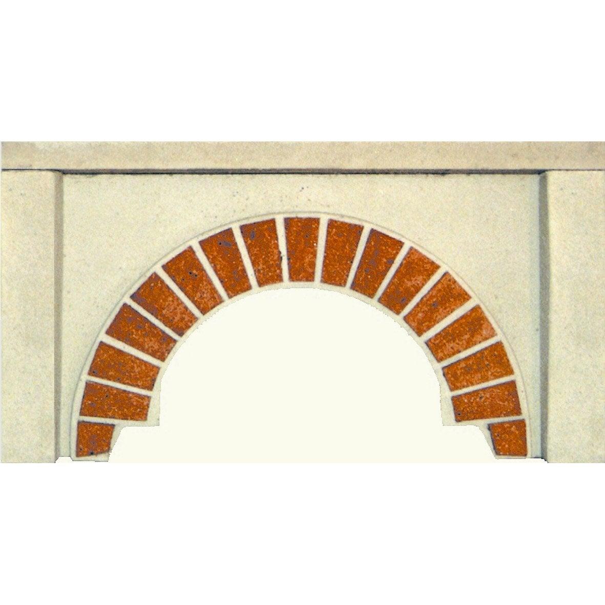 Fa ade en pierre reconstitu e blanc et terre cuite arcade - Banc en pierre leroy merlin ...