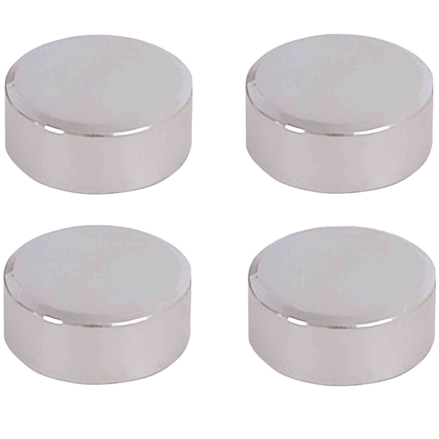 Lot de 4 pattes glace rond chrom brillant leroy merlin - Glace murale pour salon ...