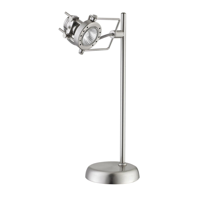 lampe de bureau poser acier technic inspire leroy merlin. Black Bedroom Furniture Sets. Home Design Ideas
