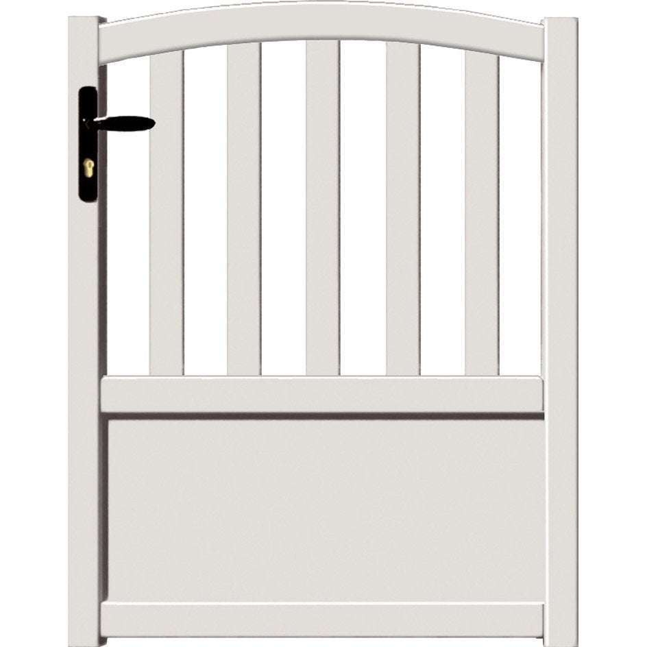 Portillon battant loray x cm blanc leroy merlin for Portillon de jardin pvc