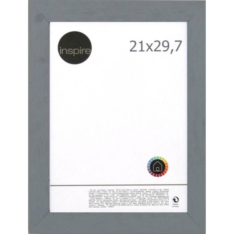 cadre bois inspire riviera 21 x 29 7 cm gris galet n 3. Black Bedroom Furniture Sets. Home Design Ideas
