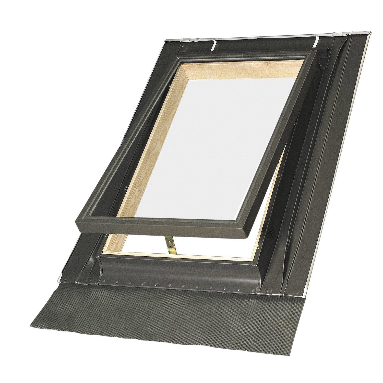 Lucarne de toit par projection fakro 46 x 75 cm leroy for Oeil de boeuf leroy merlin