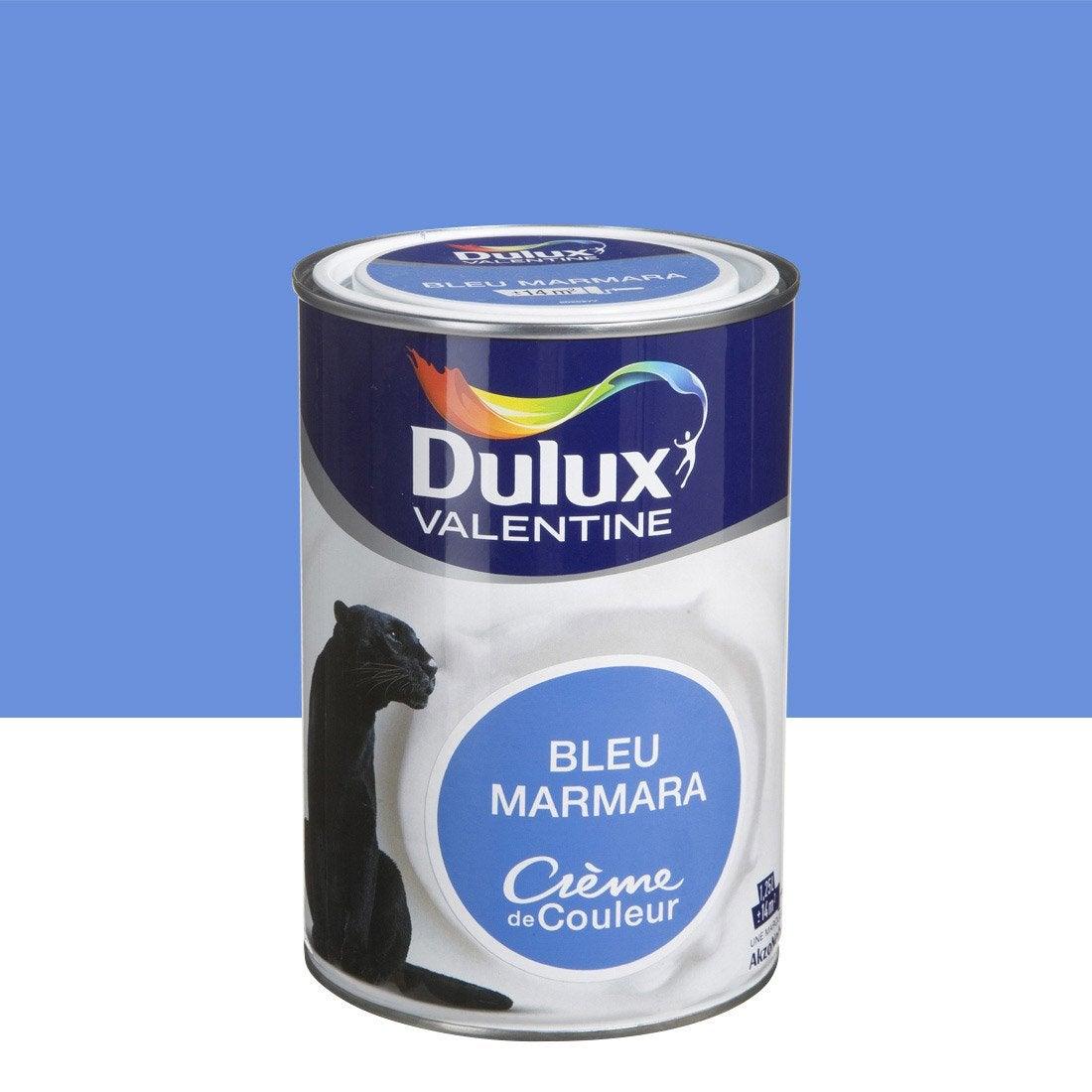 Peinture bleu marmara dulux valentine cr me de couleur 1 - Peinture couleur bleu ...