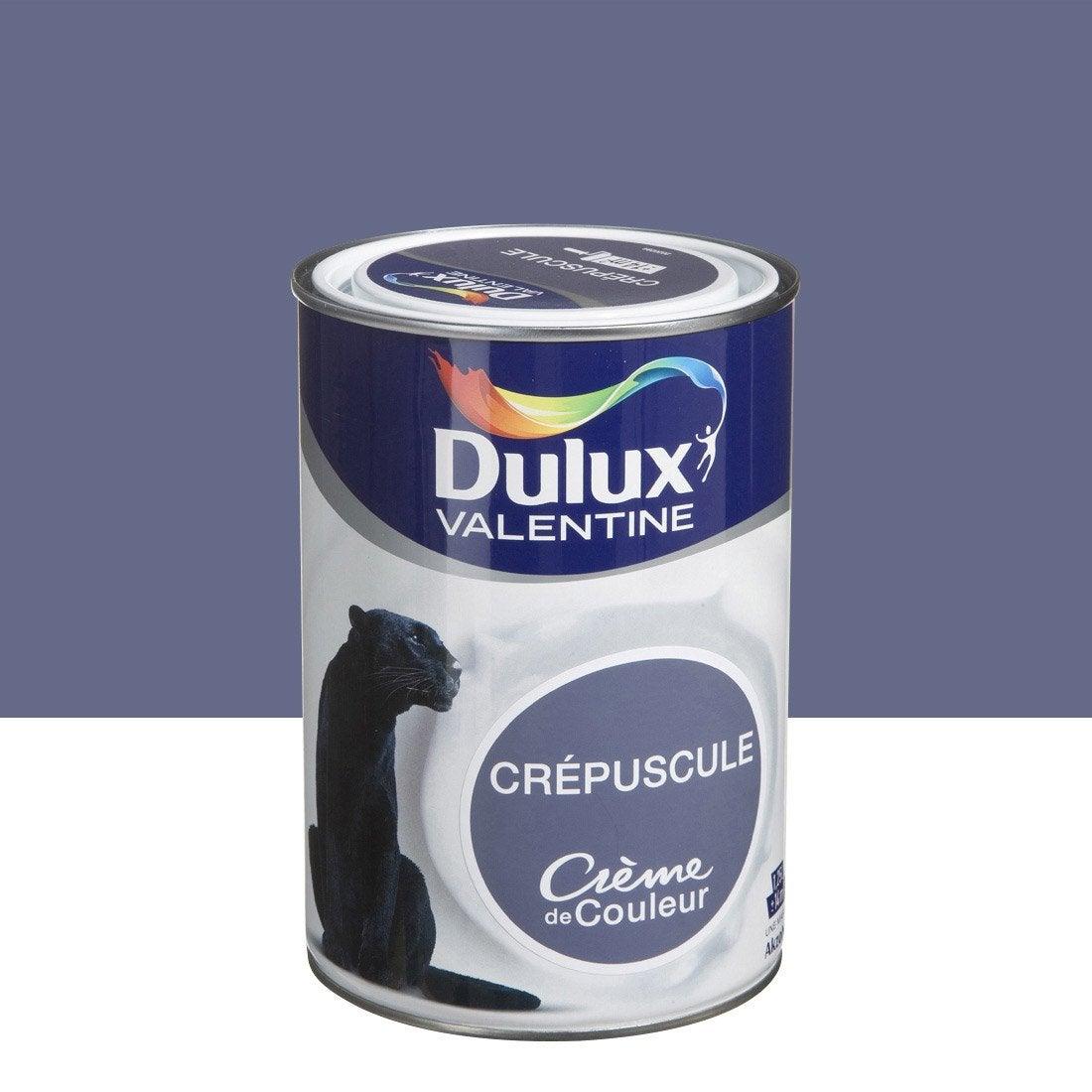 Peinture bleu cr puscule dulux valentine cr me de couleur l leroy merlin for Peinture v nuancier