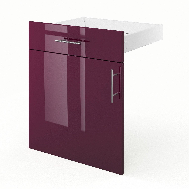Porte et tiroir de cuisine violet rio x x for Porte 60 x 70