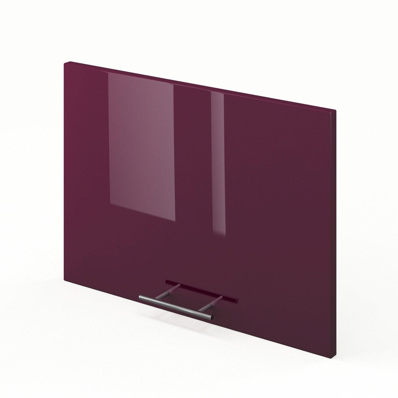 Porte sur hotte de cuisine violet rio x cm for Porte 60 x 180