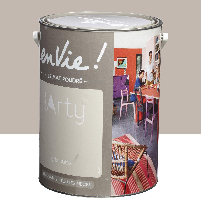 peinture gris culte luxens envie collection arty 5 l leroy merlin. Black Bedroom Furniture Sets. Home Design Ideas