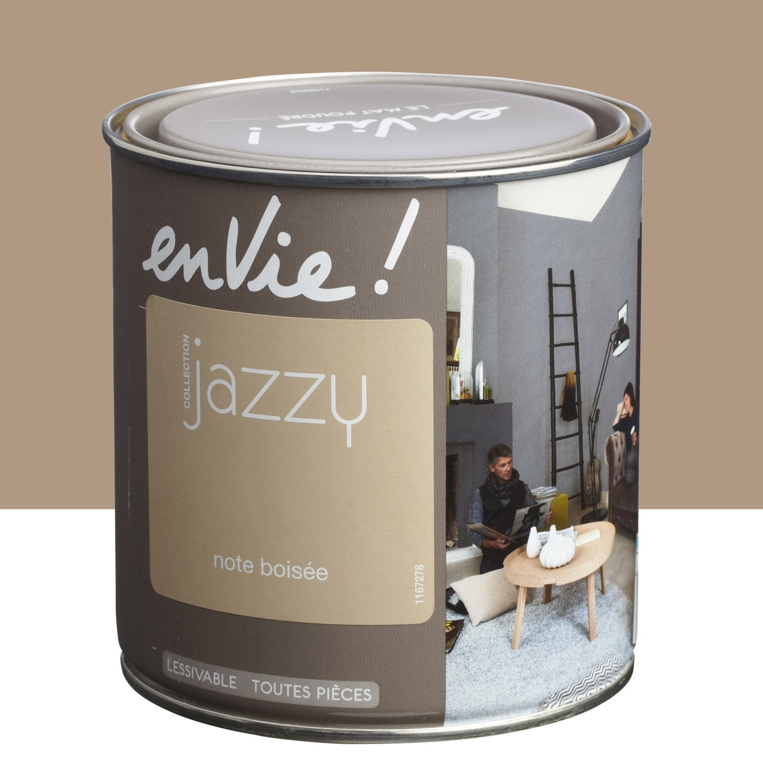 Peinture brun note bois e luxens envie collection jazzy 0 5 l leroy merlin - Peinture envie leroy merlin ...