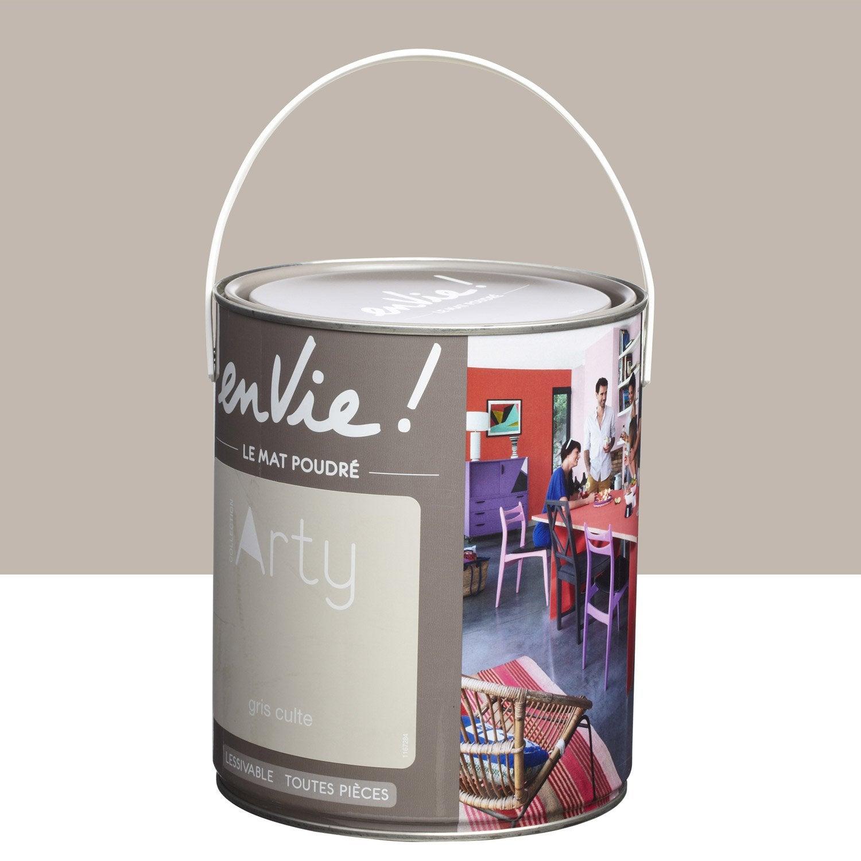 Peinture gris culte luxens envie collection arty 2 5 l leroy merlin - Peinture grise leroy merlin ...