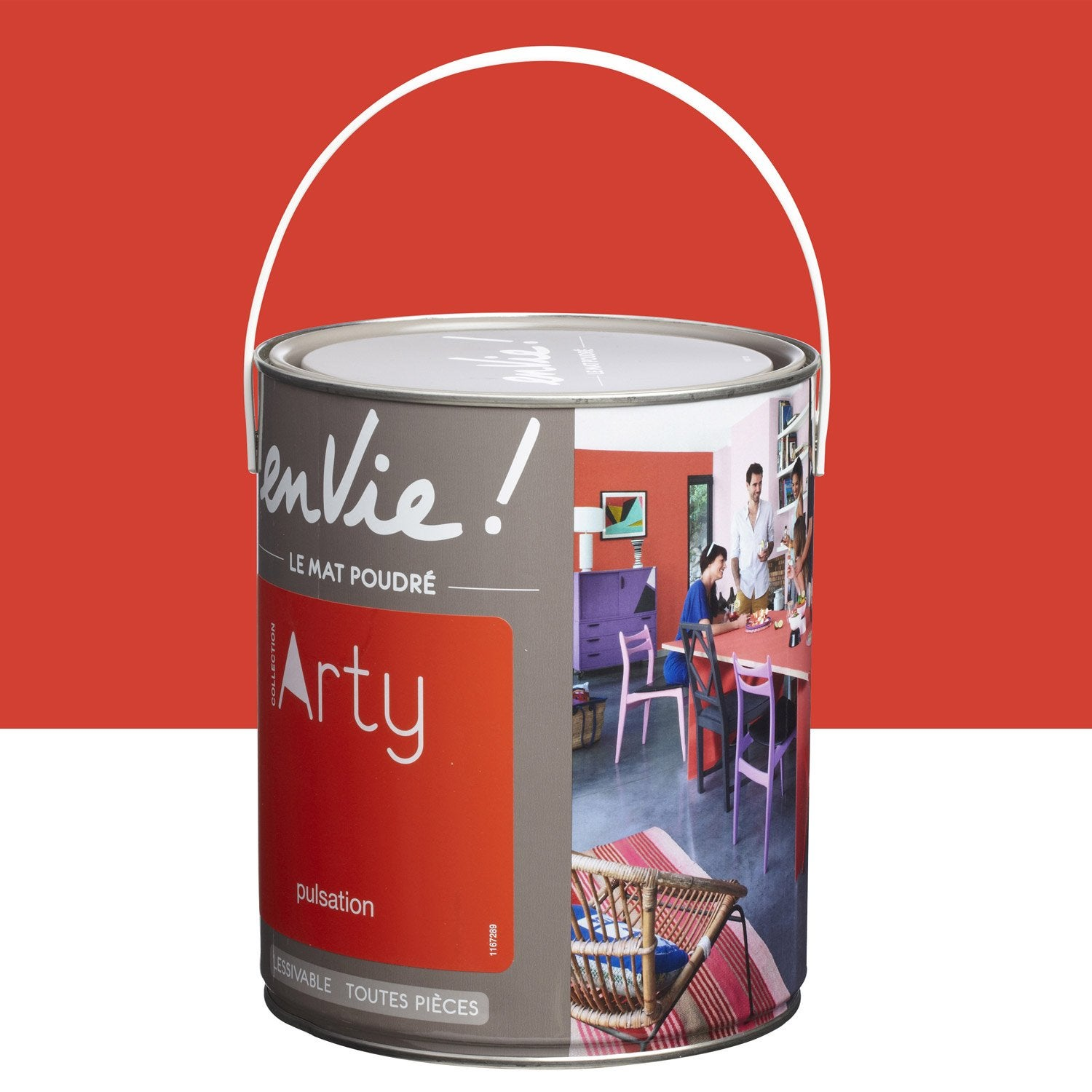 Peinture rouge pulsation luxens envie collection arty 2 5 l leroy merlin - Peinture envie leroy merlin ...