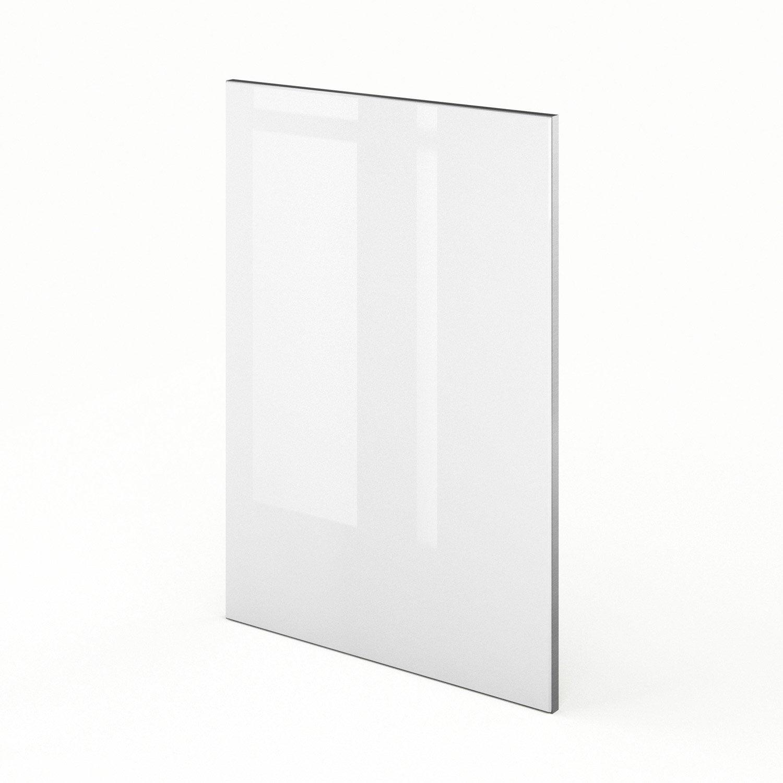 Porte de cuisine blanc everest x cm leroy merlin for Porte 70 cm de large