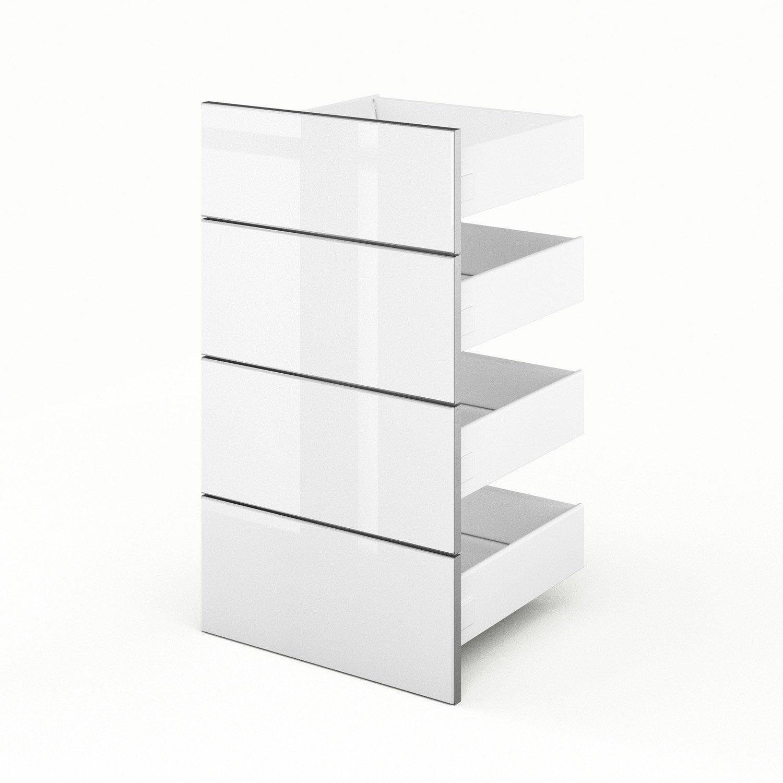 4 tiroirs de cuisine blanc everest x x cm leroy merlin. Black Bedroom Furniture Sets. Home Design Ideas