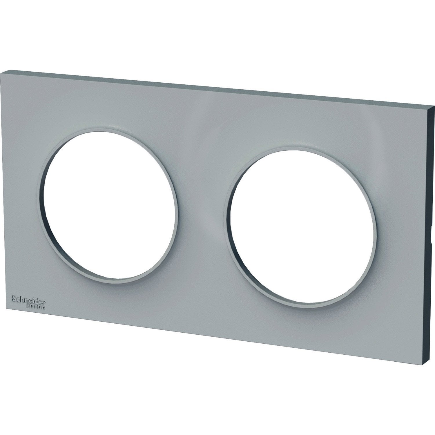 Plaque double odace schneider electric gris cendre leroy merlin - Plaque cuisson leroy merlin ...