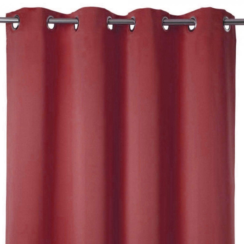 rideau occultant grande hauteur solis rouge x cm leroy merlin. Black Bedroom Furniture Sets. Home Design Ideas