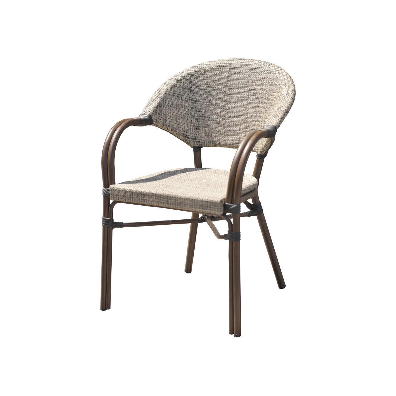 fauteuil de jardin en aluminium ushuaia lin leroy merlin. Black Bedroom Furniture Sets. Home Design Ideas