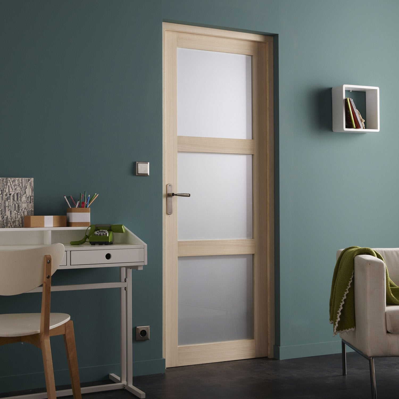 bloc porte paulownia plaqu bowen x cm leroy. Black Bedroom Furniture Sets. Home Design Ideas