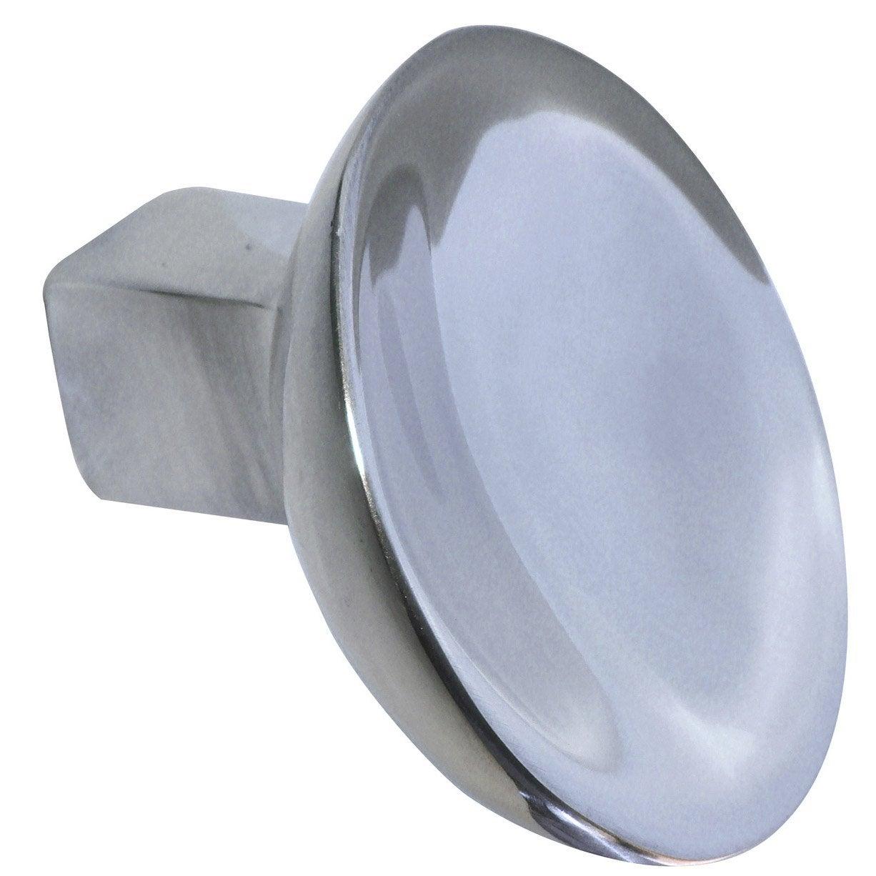 Bouton De Meuble En Aluminium Poli S Rie Assiette Leroy