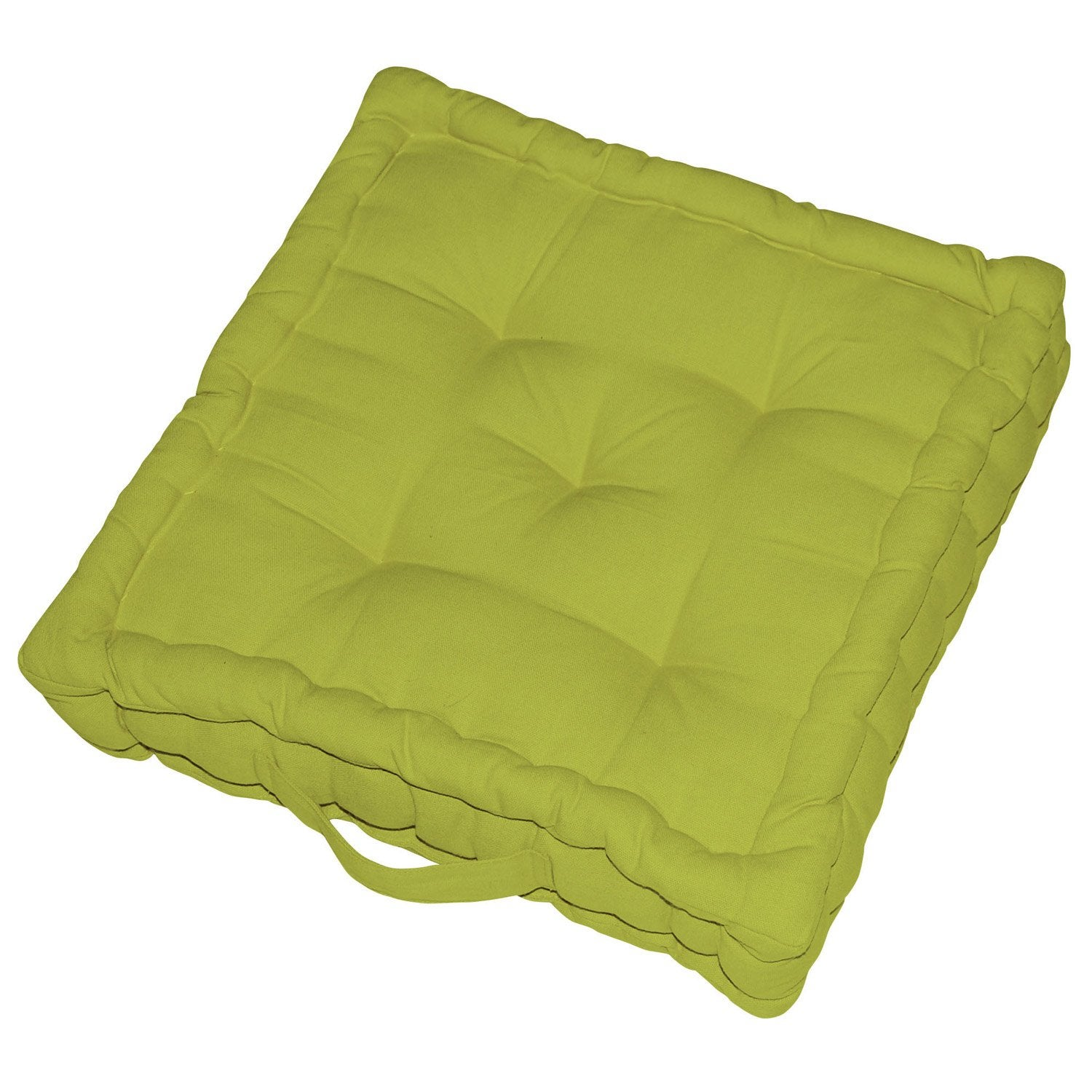 coussin de sol cl a vert pistache n 5 40 x 40 cm leroy merlin. Black Bedroom Furniture Sets. Home Design Ideas