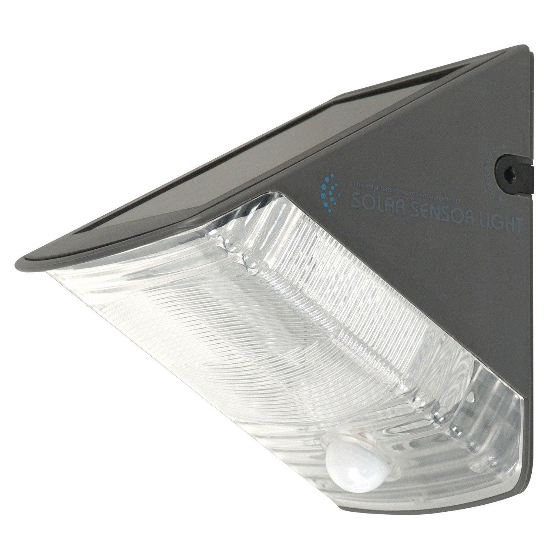 Applique d tection solaire olav 20 lm inox leroy merlin for Applique murale solaire exterieur avec detecteur leroy merlin
