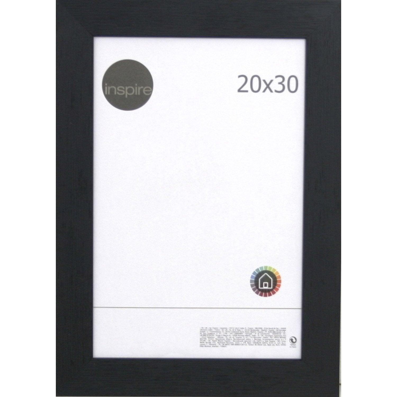 cadre riviera 20 x 30 cm noir noir n 0 leroy merlin. Black Bedroom Furniture Sets. Home Design Ideas