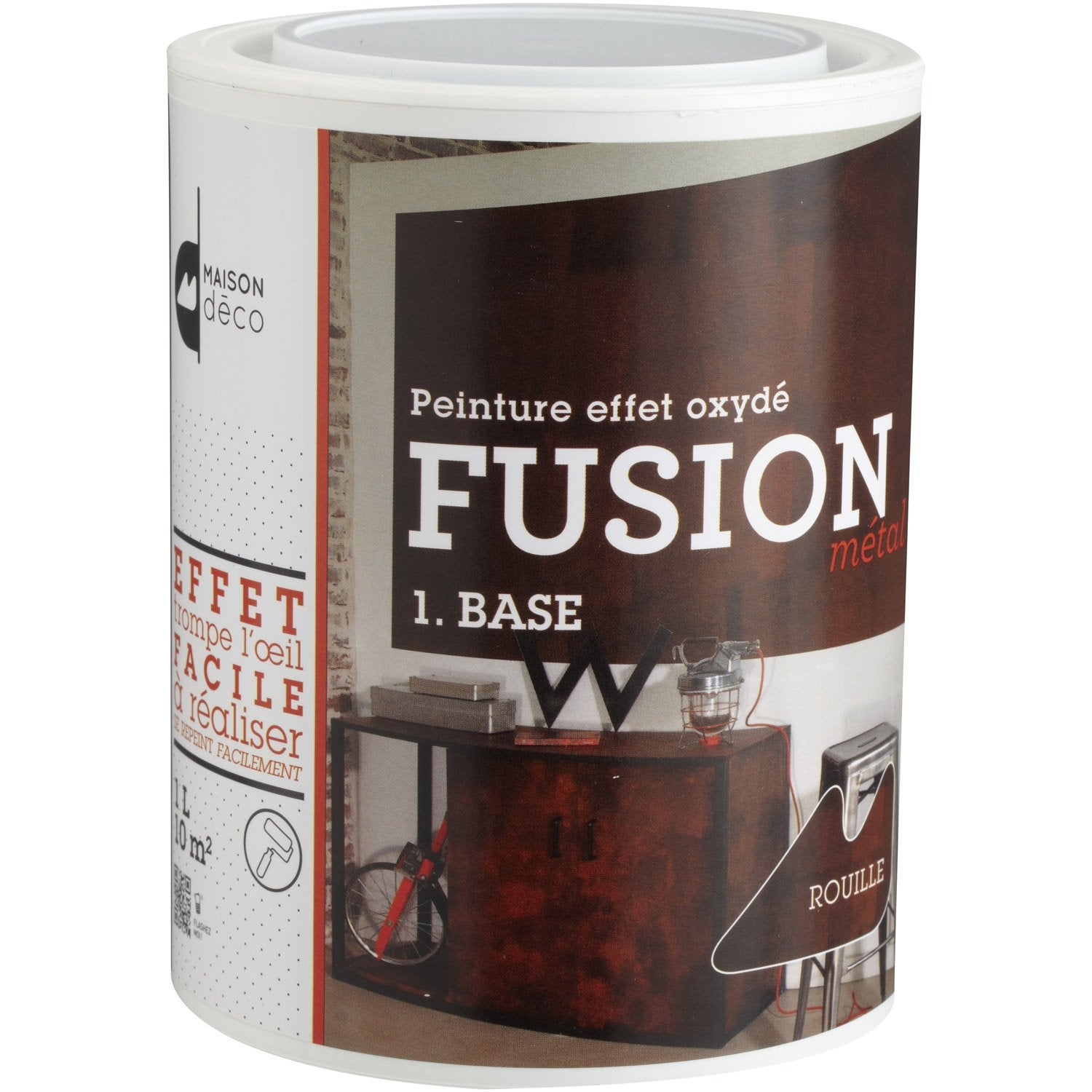 peinture effet fusion m tal maison deco base rouille 1 l leroy merlin. Black Bedroom Furniture Sets. Home Design Ideas