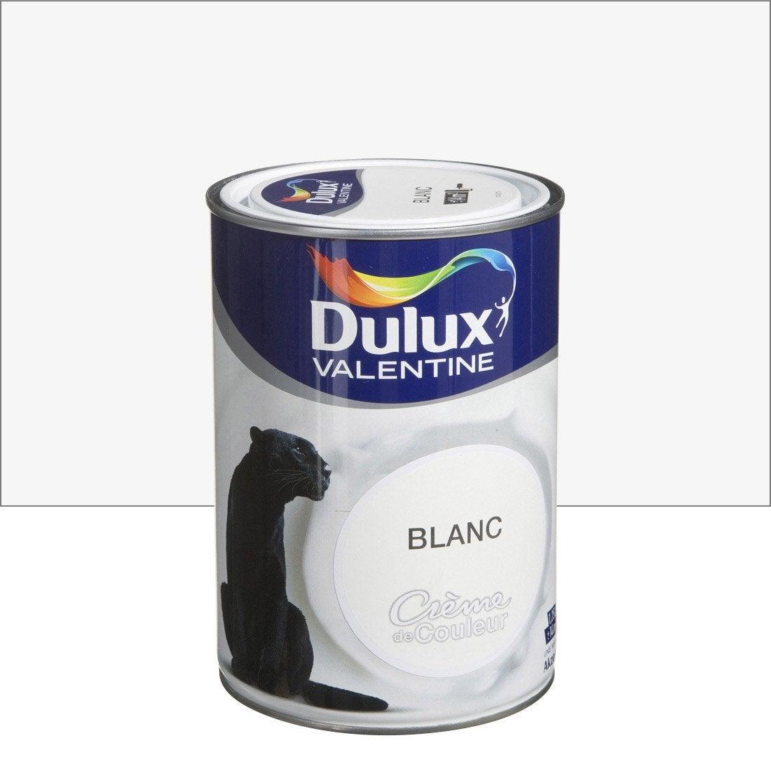 peinture blanc dulux valentine cr me de couleur l. Black Bedroom Furniture Sets. Home Design Ideas