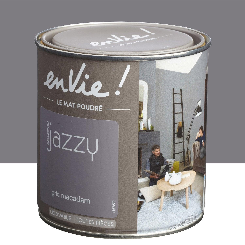 Peinture gris macadam luxens envie collection jazzy 0 5 l - Peinture leroy merlin luxens ...