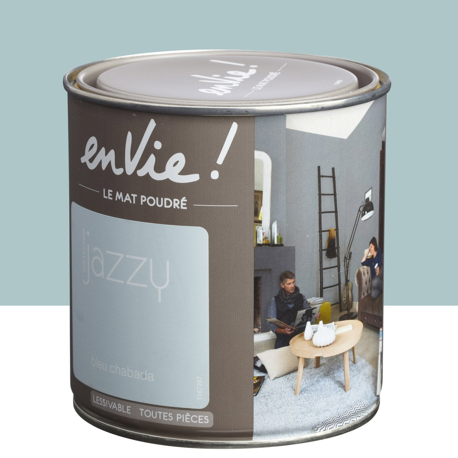 Peinture bleu chabada luxens envie collection jazzy 0 5 l leroy merlin - Peinture pailletee leroy merlin ...