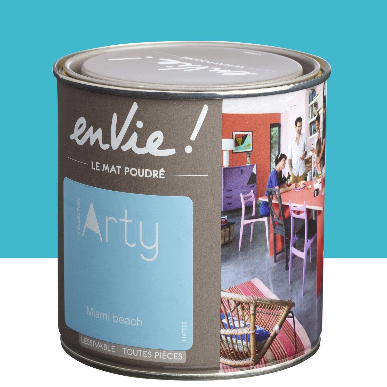 Peinture bleu miami beach luxens envie collection arty 0 5 l leroy merlin - Peinture luxens leroy merlin ...