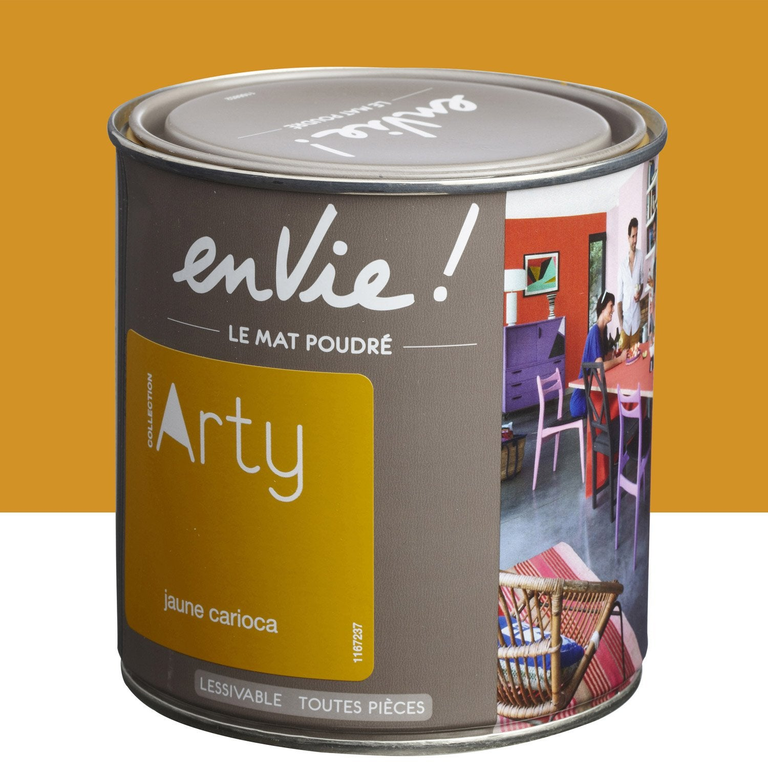 Peinture multisupports envie collection arty luxens jaune for Collection maison leroy merlin