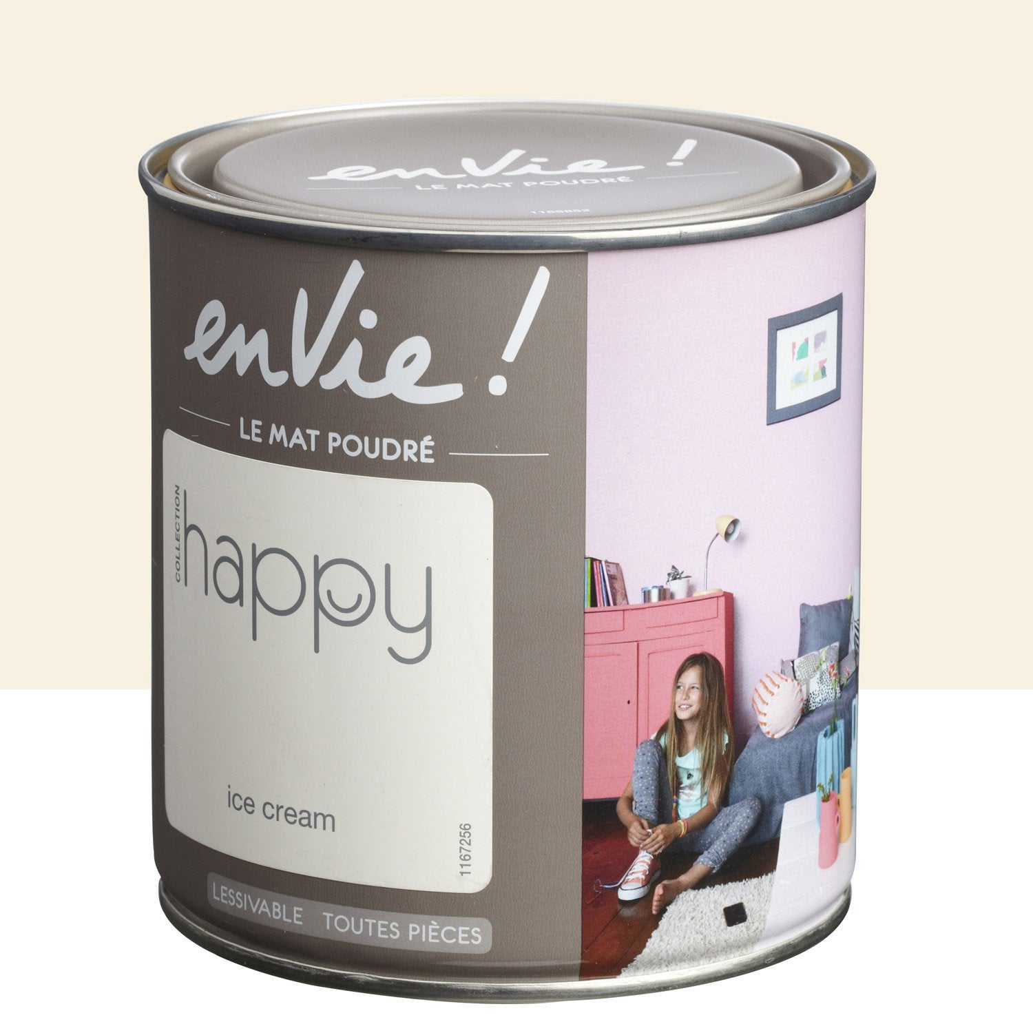 Peinture beige ice cream luxens envie collection happy 0 5 l leroy merlin for Peinture beige leroy merlin