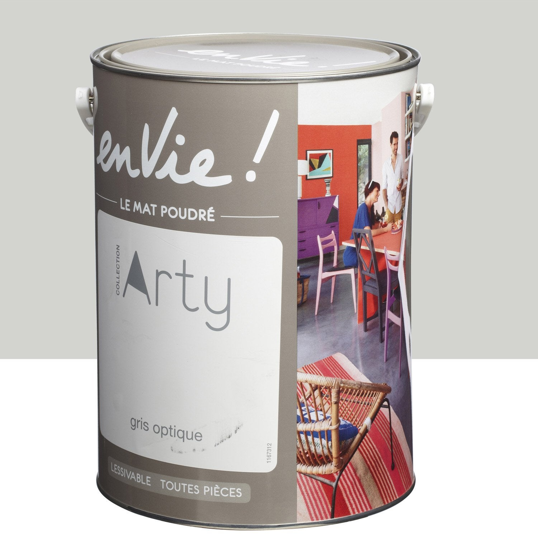 Peinture gris optique luxens envie collection arty 5 l leroy merlin - Peinture pvc leroy merlin ...