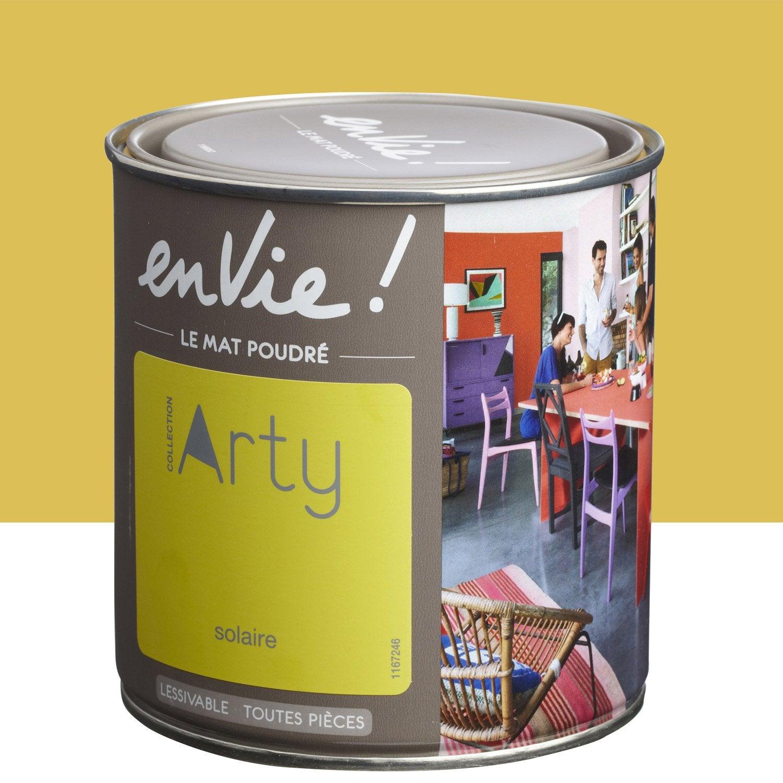 Peinture jaune solaire luxens envie collection arty 0 5 l for Peinture bio leroy merlin