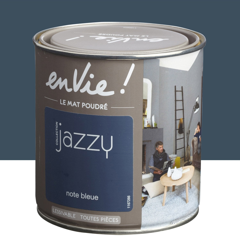 Peinture note bleue luxens envie collection jazzy 0 5 l leroy merlin - Peinture radiateur leroy merlin ...