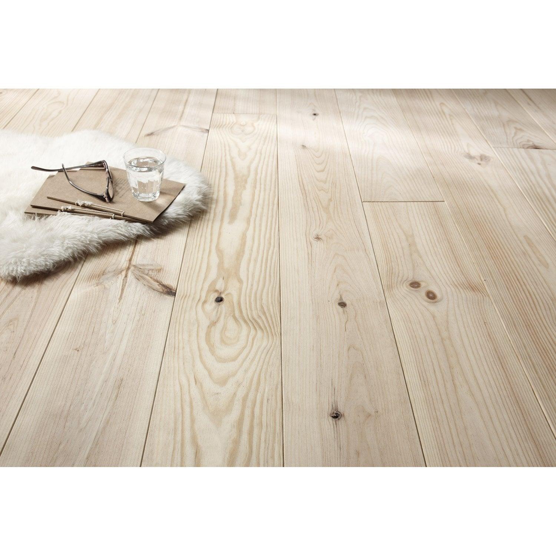 Plancher pin noueux 200cm x 17cm 23mm leroy merlin - Plancher bois leroy merlin ...