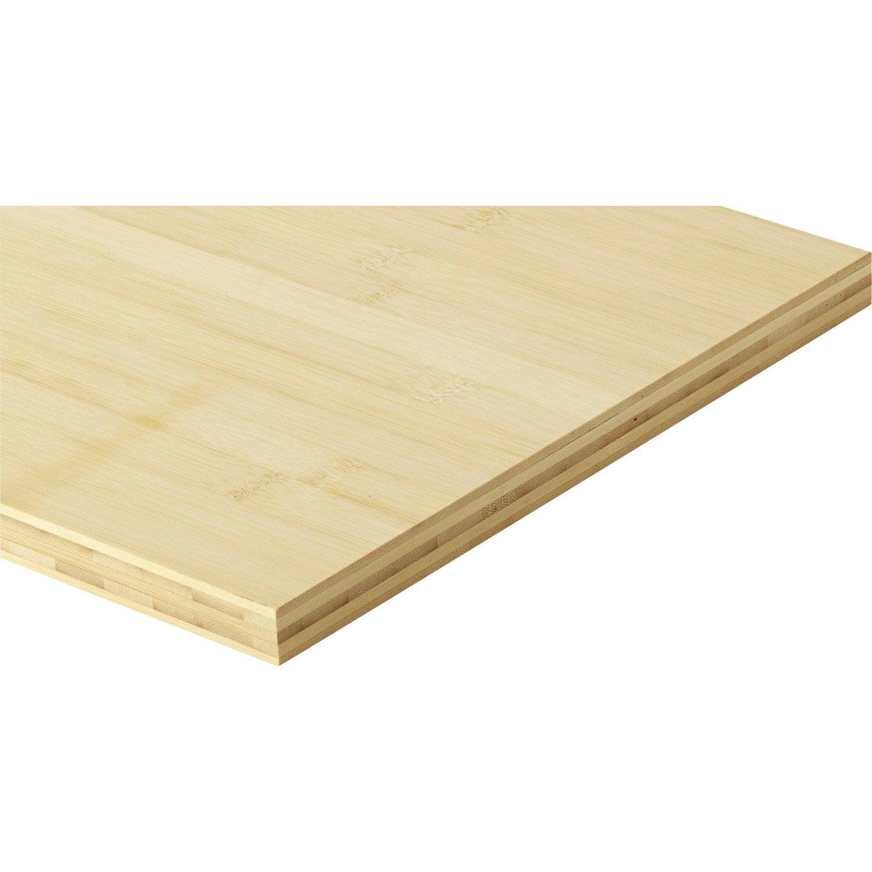 tablette bambou lamell coll x cm mm. Black Bedroom Furniture Sets. Home Design Ideas