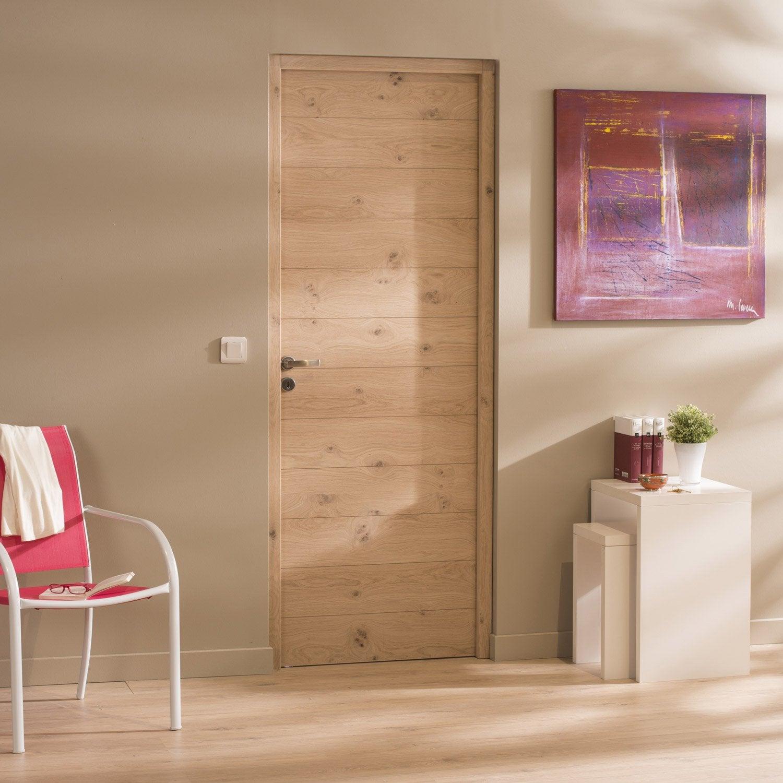 bloc porte ch ne plaqu ch ne noe artens x cm. Black Bedroom Furniture Sets. Home Design Ideas