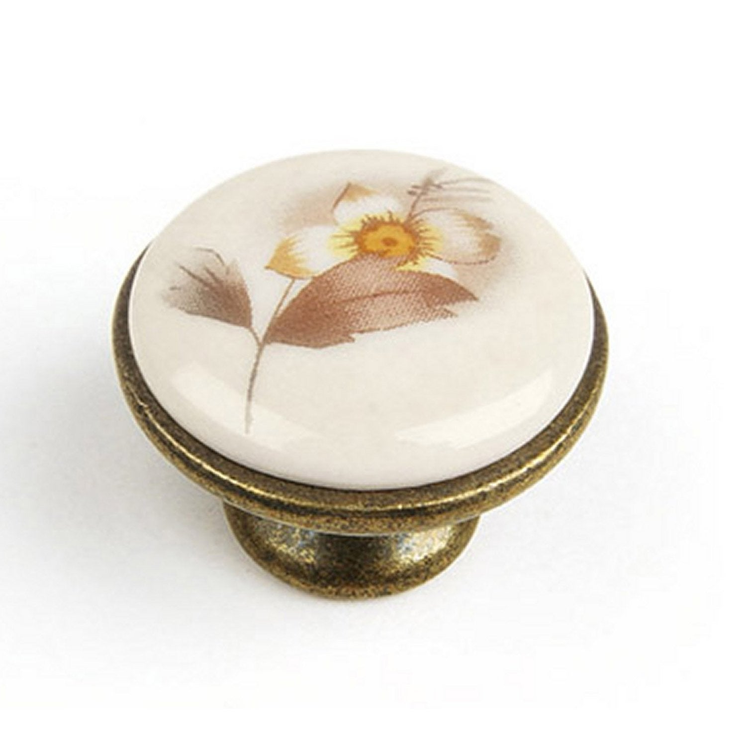 Bouton De Meuble Porcelaine Brillant Leroy Merlin