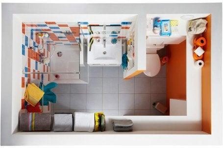 Une salle de bains dans moins de 4 m leroy merlin for Amenager une salle de bain