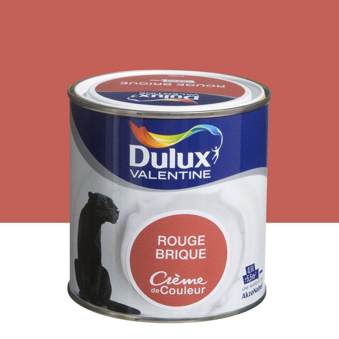 Peinture rouge brique dulux valentine cr me de couleur 0 5 for Peinture rouge pour cuisine