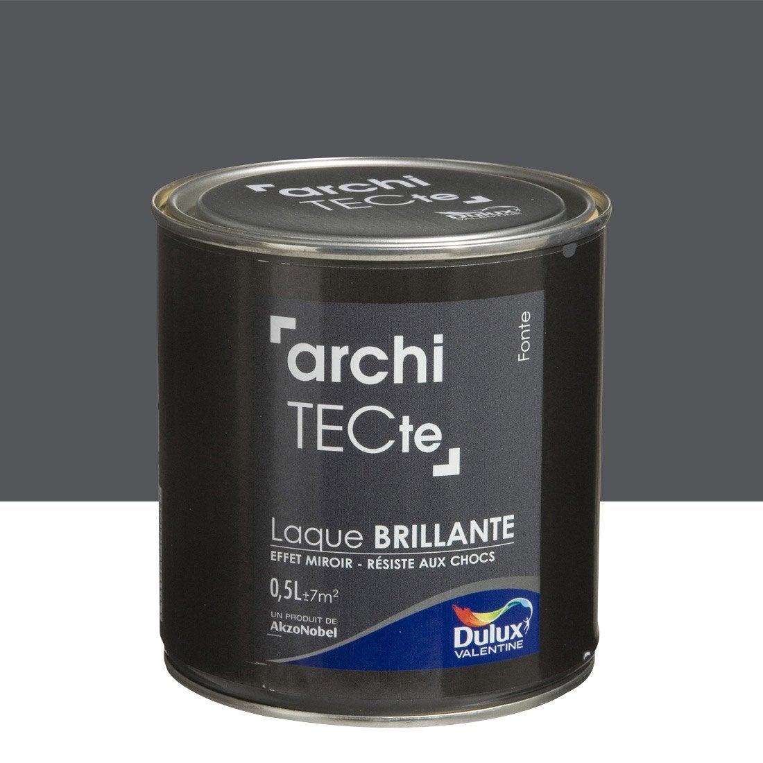 peinture gris fonte dulux valentine architecte 0 5 l leroy merlin. Black Bedroom Furniture Sets. Home Design Ideas