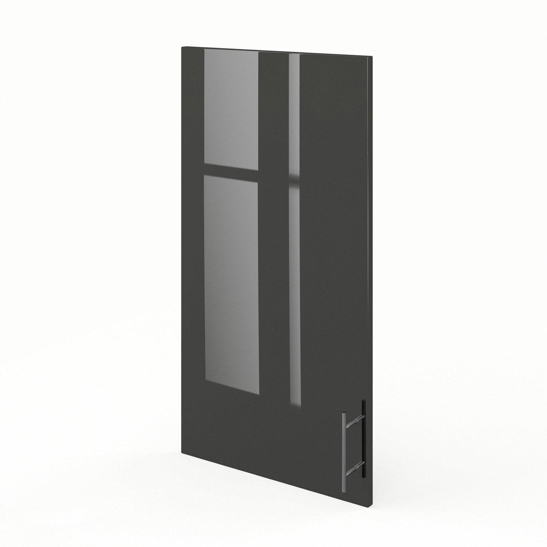 porte de cuisine gris f50 92 rio l50 x h92 cm leroy merlin. Black Bedroom Furniture Sets. Home Design Ideas