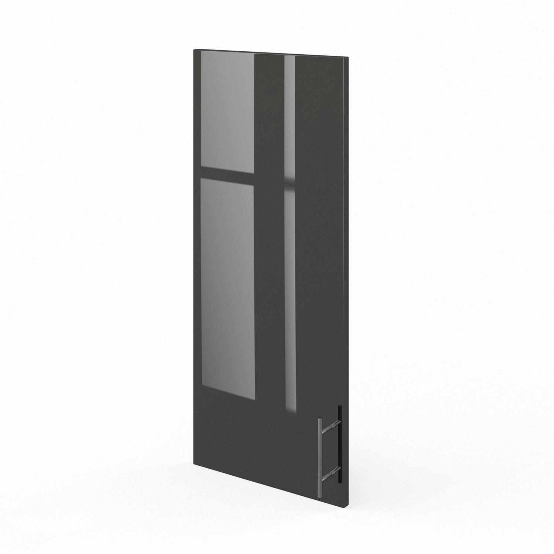 porte de cuisine gris rio x cm leroy merlin. Black Bedroom Furniture Sets. Home Design Ideas