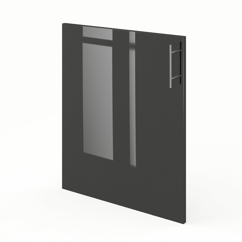Porte de cuisine gris f60 rio l60 x h70 cm leroy merlin - Porte facade cuisine leroy merlin ...