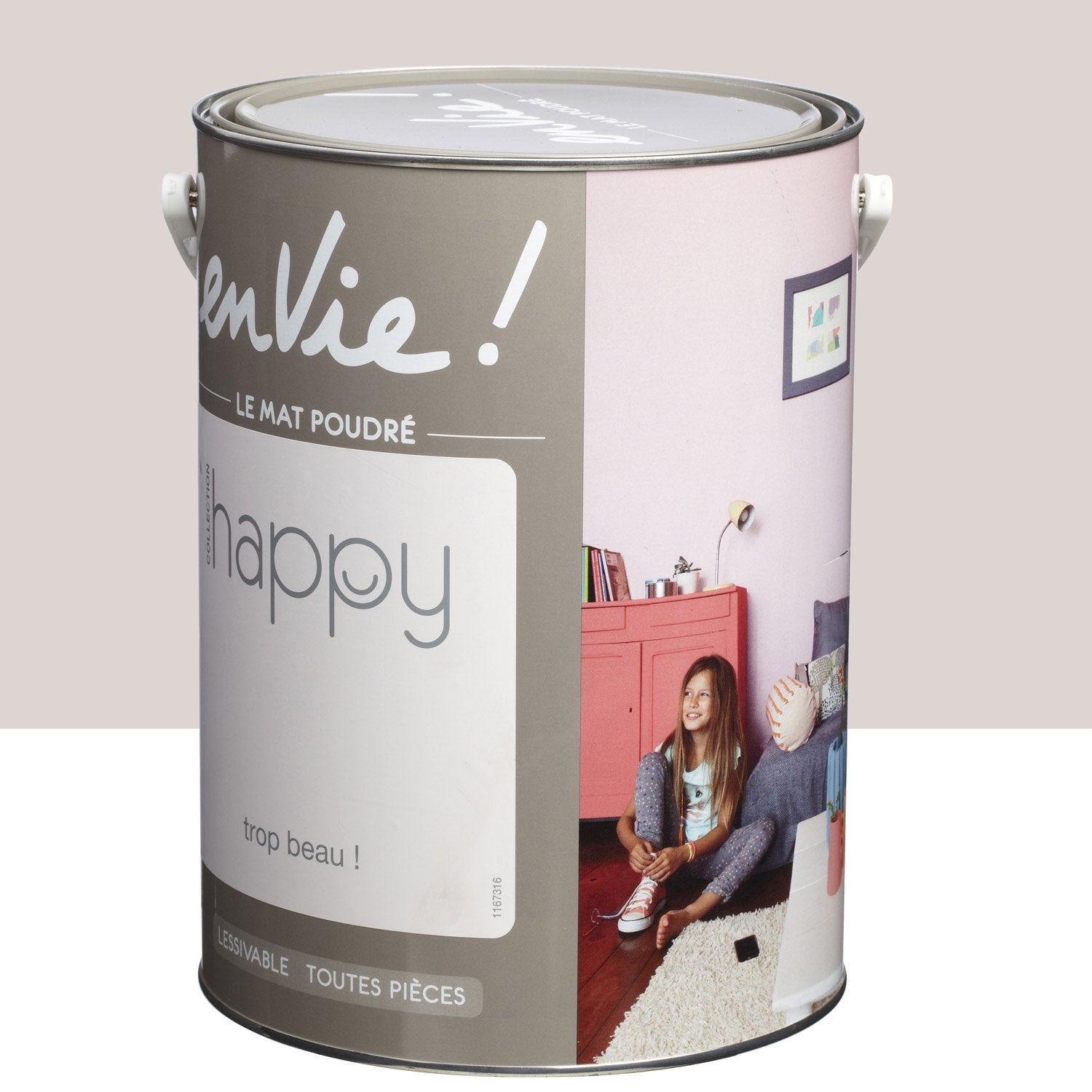 Peinture gris trop beau luxens envie collection happy 5 for Peinture bio leroy merlin