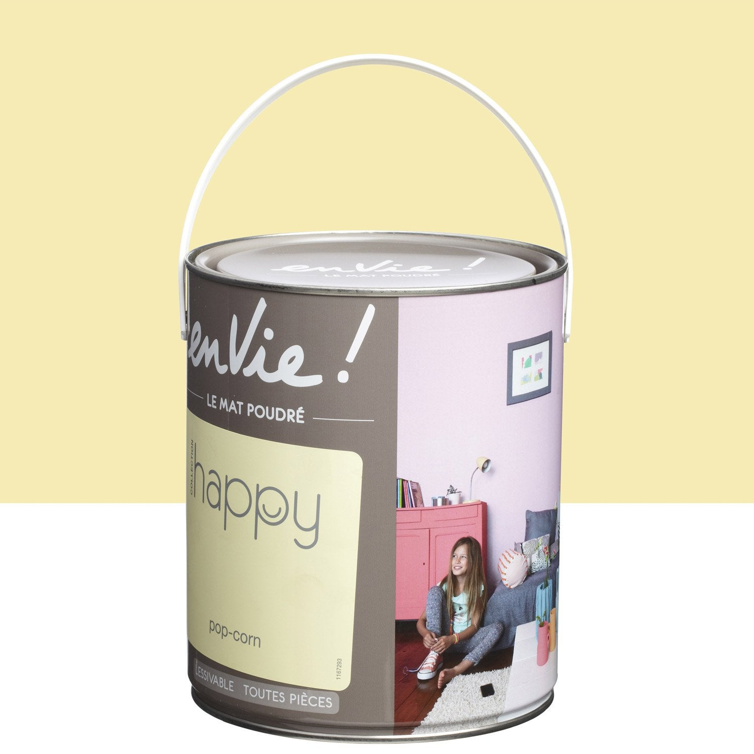 Peinture jaune pop corn luxens envie collection happy 2.5 l ...